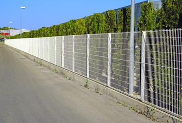 Забор из сетки.